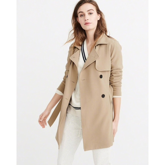 cheapest price shoes for cheap a few days away Abercrombie & Fitch Classic Trench Coat, Size XS